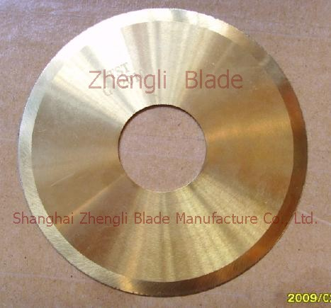Steel Special-shaped Circular Knife,  Pearl Gold Round Knife Surinam Blade, Titanium Knives Surinam Cutter, Titanium Circular Knife